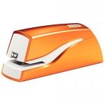 Petrus E-310 Wow - Grapadora eléctrica, 10 hojas de capacidad, usa grapas Nº 10, color naranja metalizado