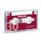 Philips LFH0005 - Cinta para dictáfono, 30 minutos, 15 minutos por cara