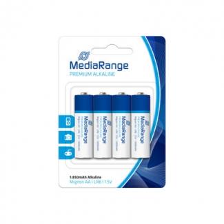 Pila alcalina MediaRange AA (LR06) blister con 4 pilas