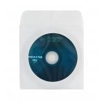 Platinet DKOPZ100 - Sobre para CD y DVD, con ventana transparente y solapa, pack de 100 unidades
