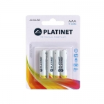 Platinet PMBLR0348 - Pila alcalina, AAA (LR03), blister con 4 pilas