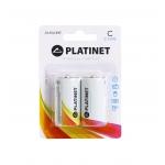Platinet PMBLR1428 - Pila alcalina, C (LR14), blister con 2 pilas