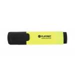 Platinet PWH12Y - Rotulador fluorescente, punta biselada, color amarillo