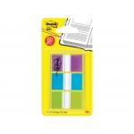 Post-it 680-roy - Banderitas separadoras, pack de 3 con 20 hojas, colores azul, lima y violeta