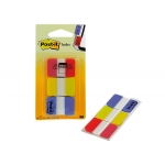 Post-it 686-ryb - Banderitas separadoras rigidas, pack de 3 con 22 hojas, colores amarillo, azul y rojo