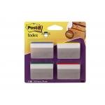 Post-it 70071355427 - Banderitas separadoras inclinadas, grandes, pack de 4 con 24 hojas (6 hojas por color), colores amarillo, azul, rojo y verde