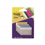 Post-it 70071425006 - Banderitas separadoras rigidas, grandes, pack de 4 con 24 hojas (6 hojas por color)