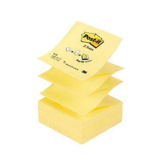 Post-it R-330 - Bloc de notas adhesivas z-notes, 76 x 76 mm, color amarillo, bloc de 100 hojas