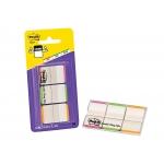 Post-it XA004806205 - Banderitas separadoras, pack de 3 con 22 hojas, colores rojo, verde y azul