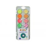 Primo 115A12FM - Acuarela, estuche de plástico, 12 colores