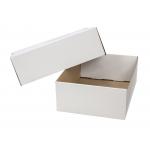 Q-Connect - Caja para embalar con tapa, medidas 430 x 150 x 320 mm, cartón de 3 mm