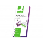 Q-Connect KF00302 - Fundas para plastificar, con clip, tarjetas de visita (98 x 67 mm), 125 micras, caja de 25