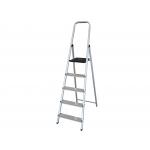 Q-Connect KF00316 - Escalera de aluminio, 5 peldaños