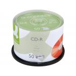Q-Connect KF00421 - CD-R, tarrina de 50 unidades