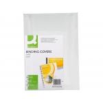 Q-Connect KF00498 - Tapa de encuadernación, A4, color blanco, cartón brillo de 215 gramos, paquete de 100