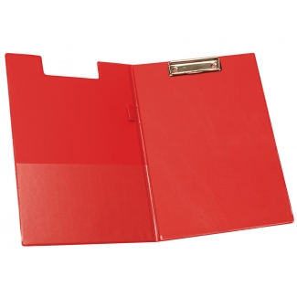 Q-Connect KF01302 - Carpeta portanotas con pinza, plástico, tamaño A4, color rojo