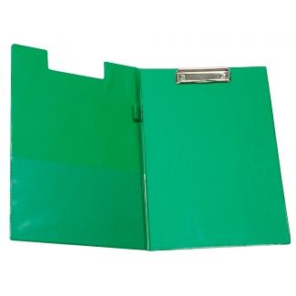 Q-Connect KF01303 - Carpeta portanotas con pinza, plástico, tamaño A4, color verde