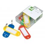 Q-Connect KF02036 - Llavero portaetiquetas, caja de 6 unidades, colores surtidos