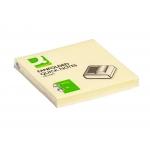 Q-Connect KF02161 - Bloc de notas adhesivas zig-zag, 76 x 76 mm, color amarillo pastel, bloc de 100 hojas