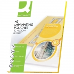 Q-Connect KF04122 - Bolsa de plastificar, A3 (303 x 426 mm), 80 micras, caja de 100