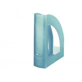 Q-Connect KF04214 - Revistero de plástico, color azul translúcido