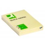 Q-Connect KF10501 - Bloc de notas adhesivas, 50 x 75 mm, color amarillo, bloc de 100 hojas