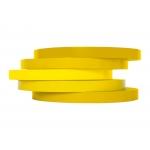 Q-Connect KF10856 - Cinta adhesiva para cerrar bolsas, 9 mm x 66 mt, amarillo