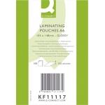 Q-Connect KF11117 - Bolsa de plastificar, A6 (105 x 148 mm), 125 micras, caja de 100