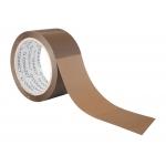 Q-Connect KF11209 - Cinta adhesiva para embalar, 75 mm x 66 mt, polipropileno, marrón