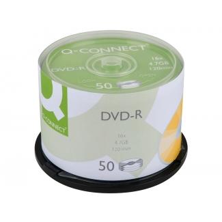 Q-Connect KF15419 - DVD-R, tarrina de 50 unidades