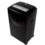 Q-Connect KF15553 - Destructora de papel, corte en partículas, destruye hasta 15 hojas, papelera de 35 litros