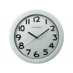 Q-Connect KF15589 - Reloj de pared, plástico, redondo, color blanco
