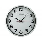 Q-Connect KF15591 - Reloj de pared, plástico, redondo, color blanco