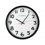 Q-Connect KF15592 - Reloj de pared, plástico, redondo, color negro