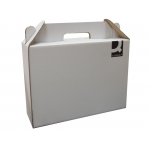 Q-Connect KF18477 - Caja para embalar maletín, medidas 350 x 255 x 118 mm, cartón de 3 mm