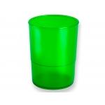Q-Connect KF19031 - Cubilete portalápices redondo, color verde translúcido