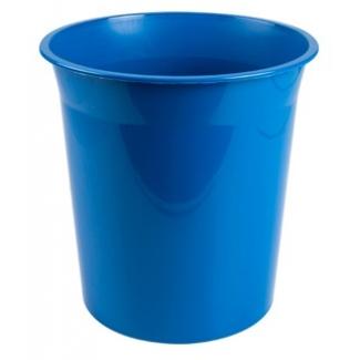Q-Connect KF19032 - Papelera de plástico, 13 litros, color azul opaco