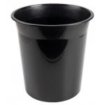 Q-Connect KF19034 - Papelera de plástico, 13 litros, color negro opaco