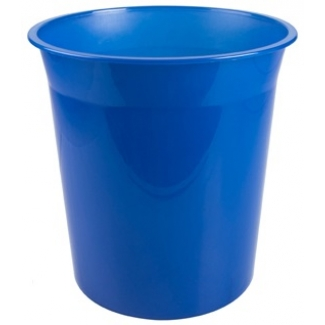 Q-Connect KF19037 - Papelera de plástico, 13 litros, color azul translúcido