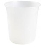 Q-Connect KF19038 - Papelera de plástico, 13 litros, color transparente translúcido