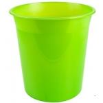 Q-Connect KF19039 - Papelera de plástico, 13 litros, color verde translúcido