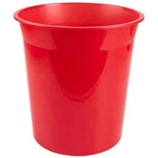 Q-Connect KF19041 - Papelera de plástico, 13 litros, color rojo translúcido