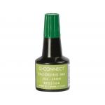 Q-Connect KF25104 - Tinta para tampón, frasco de 28 ml, color verde