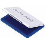Q-Connect KF25209 - Tampón número 2, tamaño 110 x 70 mm, color azul