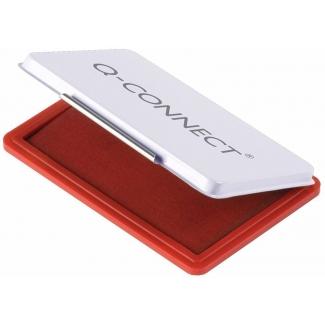 Q-Connect KF25212 - Tampón número 2, tamaño 110 x 70 mm, color rojo
