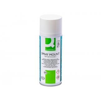 Q-Connect spray quick mount KF01071 - Pegamento de spray, adhesivo reposicionable, 400 ml