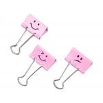Rapesco 1349 - Pinza metálica reversible, 19 mm, caja de 20 unidades, emojis, color rosa