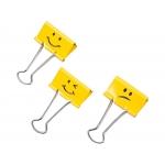Rapesco 1351 - Pinza metálica reversible, 19 mm, caja de 20 unidades, emojis, color amarillo
