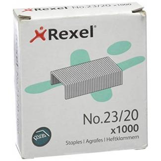 Rexel 2100926 - Grapas Nº 23/20, caja de 1.000