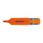 Kores MF3 - Rotulador fluorescente, punta biselada, color naranja